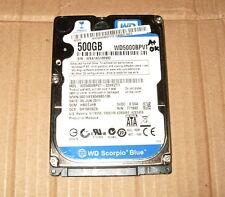 """2.5"""" Western Digital WD5000BPVT 500GB 5400RPM 8M SATA Laptop Hard Drive #6992"""