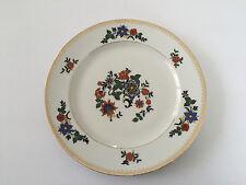 "Czechoslovakia Czech China CZE54 Orange Blue Flowers, Gold - 9-3/4"" DINNER PLATE"