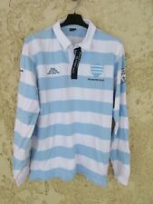 Polo maillot rugby RACING METRO 92 Kappa shirt 2010 2011 Trophée de Coubertin L
