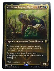 MTG. Commander Legends. CMR. 588. Archelos, Lagoon Mystic. Etched Foil.