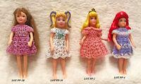 "Doll Clothes Dress for 3.5"" Polly Pocket Handmade OOAK USA  Lot 4-E Select"