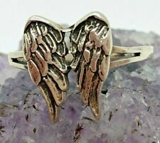 Vintage Sterling Silver Angel Wings Ring Size 5.75