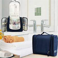 Blue Large Hanging Toiletry Bag Cosmetic Makeup Wash Travel Organizer Pouch KM01