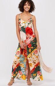 New ex Monsoon Oana Abstract Ivory Slip Floral Maxi Dress RRP £99 Sizes 8-18