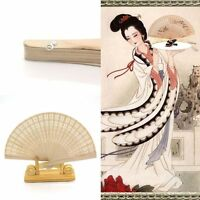 Wedding Party Decor  Bamboo Wooden Fragrant Folding Hand Fan Chinese Style