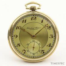 IWC 14k Yellow Gold 1940s Vintage Pocket Watch