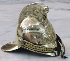 NSW FB FIREMAN HELMET BRASS FIRE FIGHTER CHIEF HELMET