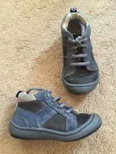Clarks First Shoes Boot Leather Blue Laces Size 5.5 G Good Condition Cute