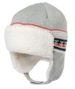 NWT Gymboree Boys Little Pals Super Soft Knit Sweater Hat 3-6 M
