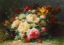 Dutch Master Painting Floral Still Life Roses Bouquet Fine Art Canvas Print
