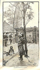 PARIS EXPOSITION UNIVERSELLE WORLD FAIR 1889 SENEGAL MAISON TISSEUR GRAVURE