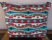 Canvas Stencil Purse HIPC-156 Southwest Southwestern Design Sturdy Cotton Bag