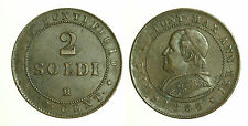 pcc1257_20) STATO PONTIFICIO  PIO IX  2 SOLDI 1866