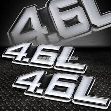 2X METAL BUMPER TRUNK GRILL EMBLEM DECAL STICKER BADGE CHROME BLACK 4.6 4.6L