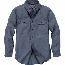 Denim Long Sleeve Solid Casual Shirts for Men