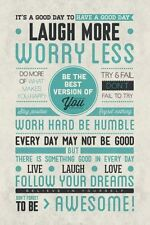 BE AWESOME 24x36 POSTER WALL ART DECOR INSPIRATION MOTIVATION HAPPY PEACE LOVE!!