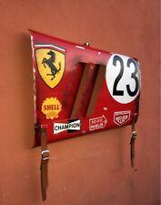 Grand Prix Race car wall art panel Ferrari fender section handmade replica #23