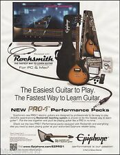 Epiphone Les Paul Junior Guitar Rocksmith Pro-1 Performance Pack 8 x 11 ad print