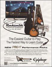 Epiphone Les Paul Junior Guitar Rocksmith Pro-1 Performance Pack 8 x 11 ad print