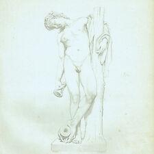 XIX secolo Incisione Nudo Maschile Fauno Sussmann Payne