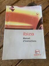 Manuel Notice D Utilisation Seat Ibiza