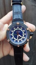 Invicta 19300 Mens 48mm Speedway GMT Date Leather Strap Stainless Steel Watch