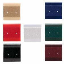 50 Small 1 Inch Square Earring Display Cards with Hanging Tab & Holes for 1 Pair