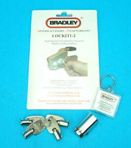 GENUINE Bradley Hitch Lock & 4 Keys with Keyring for Doublelock Trailer Coupling