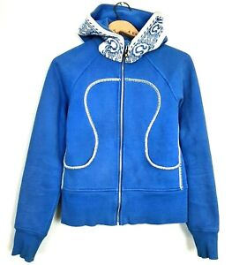 Lululemon Womens Size 6 Blue Special Edition Sweden Olympic Scuba Hoodie