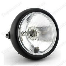 "Universal 6 1/2"" Motorcycle Headlight Head Lamp 35W For Cafe Racer Custom Black"