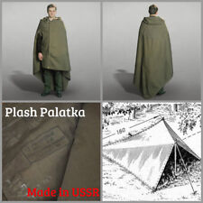 USSR Army Military Rain Coat Cloak Tent Poncho Russian Soldier Plash Palatka OTK
