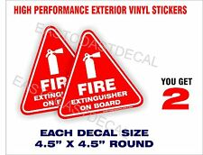 2 FIRE EXTINGUISHER ON BOARD  DECAL STICKERS. UV EXT or INT + FREE SHIPPING NEW
