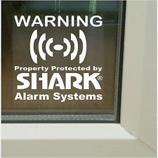 6 x Property Security-Shark Alarm System Warning-Window Stickers-Home,Business