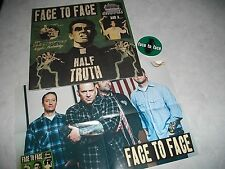 Face To Face Three Chords & A Half Truth CLEAR VINYL LP Record & Poster/Sticker!