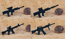 "Hasbro GI Joe 1:18 Action Figure Accessory 3.75"" RIFLE M4 M16 L85A2 Weapons"