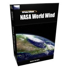 NASA mondo VENTO 3D TERRA MONDO ATLAS COMPUTER SOFTWARE PROGRAM