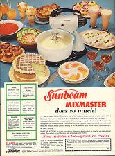 original large colour advert 1957 . sunbeam mixmaster