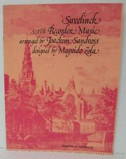 SATB RECORDER MUSIC - CHANSONS by J.P. SWEELINCK Sheet Music Book Classical