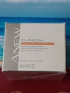 Avon Anew Clinical Advanced Extra Strength RETEXTURIZING PEEL 30 Pads -Sealed
