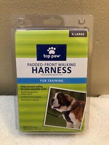 "NWT Top Paw Walking Harness Size XL Pet Dog Padded Walking Black Gray 26-43"""