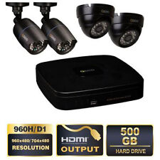 NEW! Q-See 4 Channel 960H Security System,500GB HD (2) 960H ,(2) 700TVL Cameras