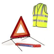 Réfléchissant triangle avertissement signe & gilet de sécurité/Voiture Hazard UE d'urgence