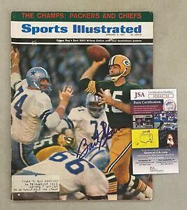 Bart Starr Signed 1967 Sports Illustrated Magazine AUTO JSA COA Packers HOF