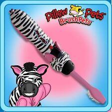 As Seen On TV Pillow Pets BrushPets Talking Toothbrush Zippity Zebra