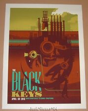Black Keys Tom Whalen Pittsburgh Concert Poster Print 2013