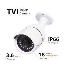 1080P HD-TVI Bullet Security Camera 3.6mm HD 3MP Lens 18IR CCTV Outdoor, W