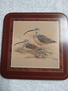 Vintage Pimpernel Coaster Birds 6 pack