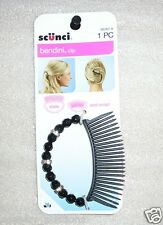 G80  SCUNCI LARGE 2 1/2 INCH BENDINI HAIR CLIP BLACK  SLIDE AND SNAP #38282