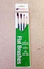 Humbrol Paint Brush Pack(4) FLAT BRUSHES
