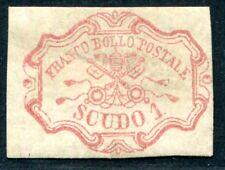 Italia STATO chiese 1852 11 * CERTIFICATO DIENA (s8567